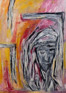 Christus, ÖL / Plakatkarton 2012, 95,6 x 67,9 cm