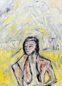 Die Einsamkeit der Unschuldigen,Öl / Plakatkarton 2012, 95,6 x 67,9 cm