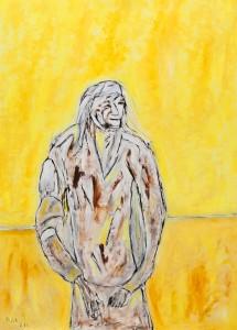 Jenseits aller Erwartungen, ÖL / Plakatkarton 2012, 95,6 67,9 cm
