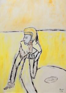 Der schöne Blick der Entbehrenden, ÖL / Plakatkarton 2011, 95,6 x 67,9 cm