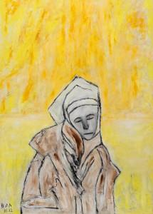 Verletzbarkeit, ÖL / Plakatkarton 2012, 95,6 67,9 cm