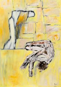 Die Tränenmauer, Öl /Plakatkarton 2012, 95,6 x 67,9 cm