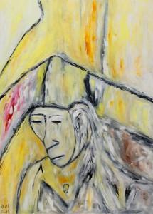 Die Abende des Augenblicks, Öl / Plakatkarton 2012, 95,6 x 67,9 cm
