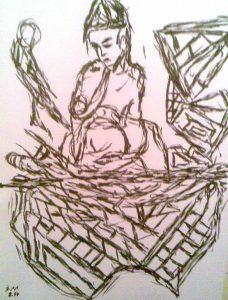 Die Mutterschaft, Zeichentinte 2017