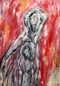Heiligen Antonius, Öl / Plakatkarton 2012, 95,6 x 67,9 cm
