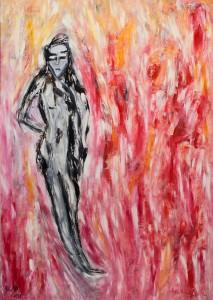 Im Schimmer der Jugend, Öl / Plakatkarton 2011, 95,6 x 67,9 cm