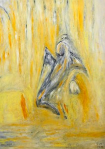 Unter der Last der verflossenen Jugend, Öl / Plakatkarton 2012, 95,6 x 67,9 cm