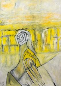 In den Gräsern meiner Augen, Öl / Plakatkarton 2012, 95,6 x 67,9 cm