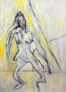 Die einzige Strasse der Kraft, Öl / Plakatkarton 2012, 95,6 x 67,9 cm