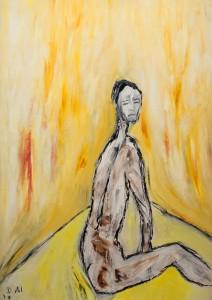 Die Rettung der verfolgten Unschuld, Öl / Plakatkarton 2011, 95,6 x 67,9 cm