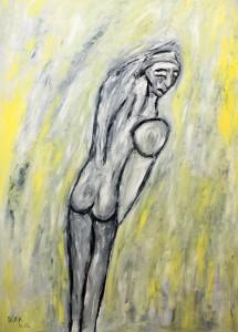 Der Bote der schlummernden Schatten, ÖL / Plakatkarton 2012, 95,6 x 67,9 cm