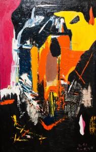 Der gefallene Engel, Öl / Holz 1999, 103,5 x 64,3 cm
