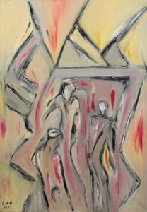 Die glänzende Stille ihrer Träume, Öl / Leinwand 2012, 100 x 70 cm