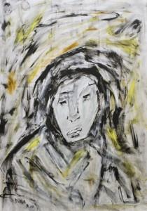 Der entwässerte Zorn, ÖL / Zeichenpapier 2010, 59,1 x 41,7 cm