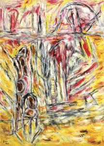 Das Innere der Quelle, Öl / Plakatkarton 2015, 95,6 x 67,9 cm