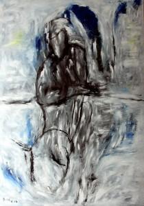 Seelenruhe, Öl / Plakatkarton 2014, 95,6 x 67,9 cm