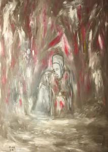 Die sanfte Hoffnung, Öl / Plaktkarton 2014, 95,6 x 67,9 cm