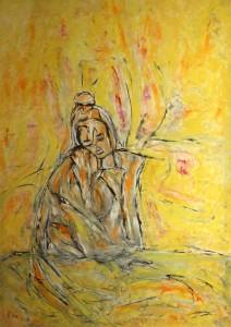 Die wunschlose Leere, Öl / Plakatkarton 2013, 95,6 x 67,9 cm