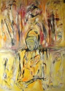 Die Klarheit, Öl / Plakatkarton 2013, 95,6 x 67,9 cm