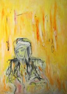 Der Hellsichtige, Öl / Plakatkarton 2013, 95,6 x 67,9 cm