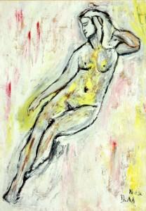 Die erwachte Sinnlichkeit, Öl / Fotopapier 2013, 29,6 x 21 cm