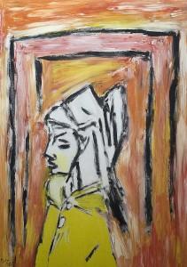 Endlos, Öl / Plakatkarton 2008, 68 x 48 cm
