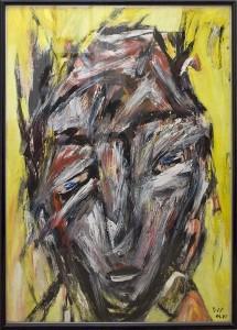 Sehnsüchte die die Nacht bewohnen, Öl / Plakatkarton 2008, 68 x 48 cm