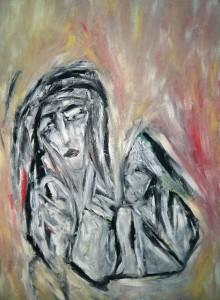 Maria Magdalena, Öl / Plakatkarton 2012, 95,6 x 67,9 cm