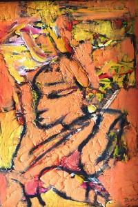 Die Gebärden der Sphären, Öl / Holz 2010, 57,5 x 39,5 cm