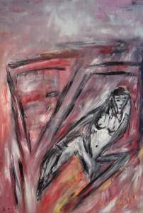 Das gelöste Antlitz, Öl / Plakatkarton 2011, 95,6 x 67,9 cm