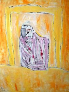 Ruhevoll, Öl / Plakatkarton 2012, 95,6 x 67,9 cm