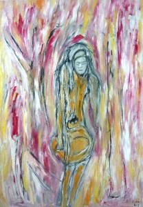 Der Spiegel der Erinnerung, Öl / Plakatkarton 2013, 95,6 x 67,9 cm