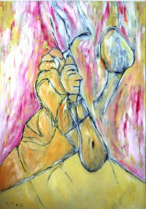 Der Nachtmahr, Öl / Plakatkarton 2013, 95,6 x 67,9 cm