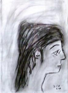 Des morgigen Tages gewiss, Zeichenkohle 2010