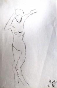 Die Anmut II, Bleistift 2012
