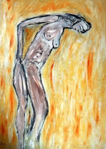 An einem schönen verlässlichen Augusttag, Öl / Plakatkarton 2011, 95,6 x 67,9 cm