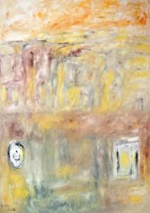 Die Zwischenwelt, Öl / Plaktkarton 2012, 95,6 x 67,9 cm
