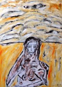 Die weiblichen Strassen, Öl / Plakatkarton 2011, 95,6 x 67,9 cm