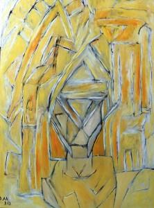 Der Verschlossene, Öl / Plakatkarton 2013, 95,6 x 67,9 cm