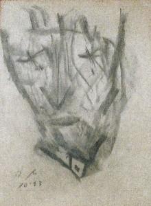 Die Anmut III, Zeichenkohle 1993