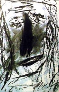 Hommage an Pablo, Zeichenkohle 1995