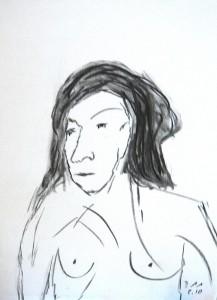 Die bewegten Gedanken, Zeichenkohle 2010