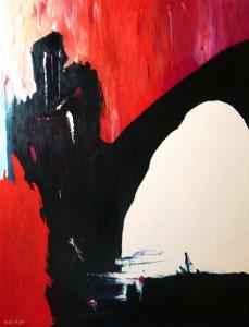 Begegnungen, Öl / Leinwand 2001, 130 x 100 cm
