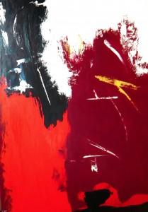 Die andere Seite, Öl / Leinwand 2001, 140 x 100 cm
