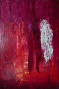 Himmelfahrt, Öl / Leinwand 2001, 150 x 100 cm