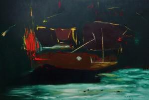 Das Morgenständchen, Öl / Leinwand 2003, 100 x 150 cm