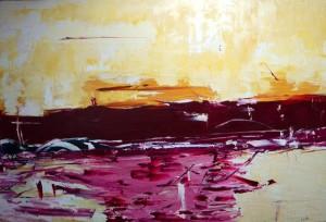 Der Aufbruch, Öl / Leinwand 2004, 100 x 150 cm