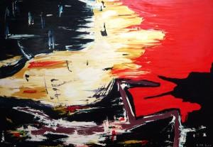 Erlöster Engel, Öl / Leinwand 2000, 100 x140 cm