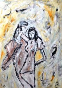 Die Nelke des Dichters, Öl / Plakatkarton 2011, 95,6 x 67,9 cm