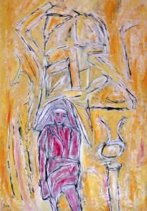 Der Weg der Erinnerungen, Öl / Plakatkarton 2013, 95,6 x 67,9 cm